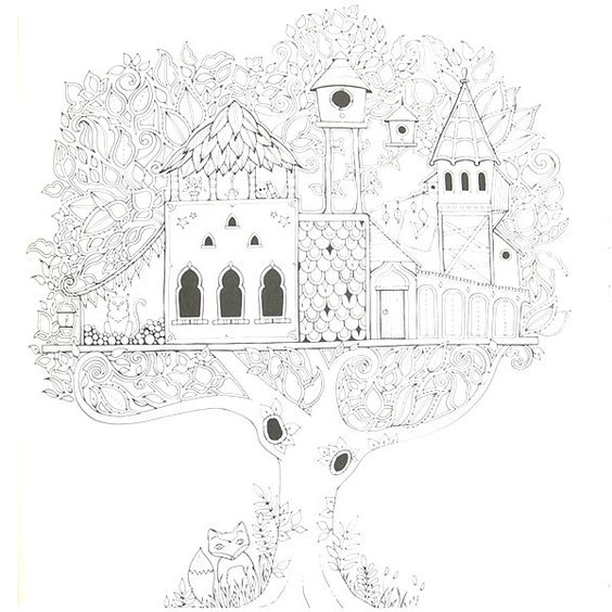 Enchanted Forest Coloring Book By Johanna Basford
