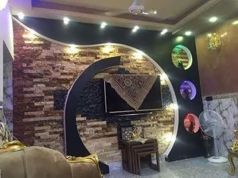 ديكورات جبس بورد 2017 شاشات Lcd Youtube Tv Wall Design Tv Wall Decor Celling Design