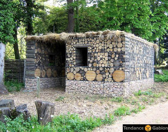 gabion house garden gabions pinterest maison et articles. Black Bedroom Furniture Sets. Home Design Ideas
