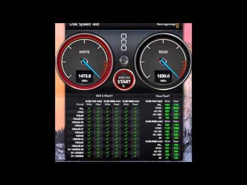 MacBook Pro Retina 15 Zoll Mid 2015 Disk Speed Test