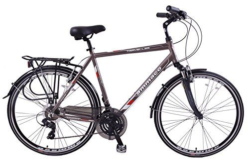 Hybrid Mountain Bike 700C Front Suspension 21 speed Comfort Bicycle Shimano New!