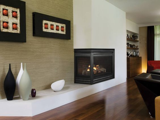 Contemporary Two Sided Gas Fireplace H Amp D Renovation Une
