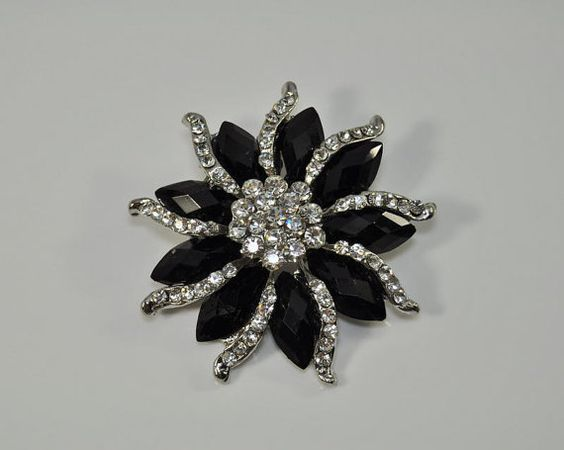 Welcome to The Bright shop! We have a variety of rhinestone brooches and buttons to choose from!    This listing is for: Crystal rhinestone Brooch