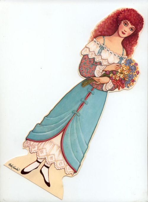 Beauty and the Beast paper dolls by Peck-Grande