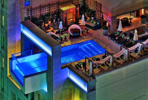 Cool overhanging pool!