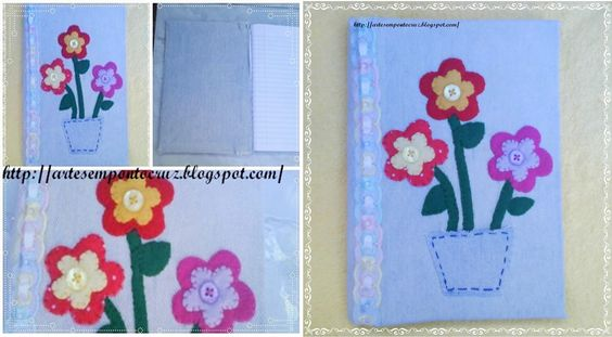 Caderno decorado com sobra de jeans,feltros e botões,o primeiro que fiz em 2011
