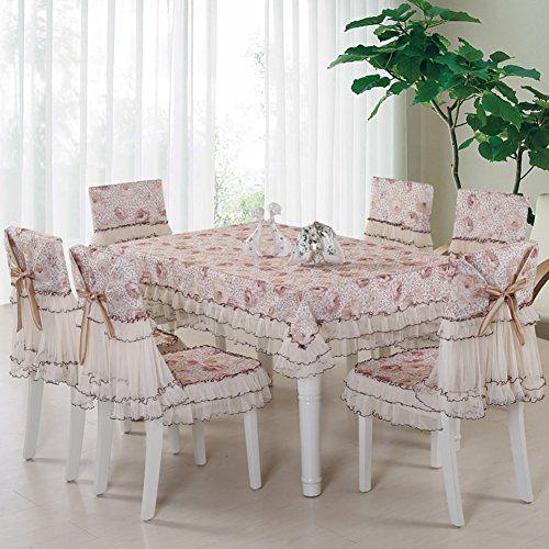 Lace Tablecloth Cover Set Garden Fresh Table Cloth Dining Tea Cushion Cover Modern Simple Home B Diameter200cm 79inch Coffee Table Cloth Table Cloth Home Decor