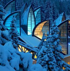 Sci-fi looking hotel/spa in Switzerland - Tschuggen Grand hotel.