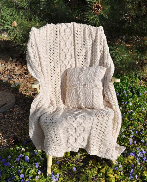 crochet afghans Fisherman knit afghan pattern crochet learn how to crochet ...