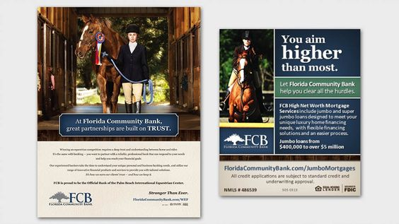 Ad Design for client Florida Community Bank