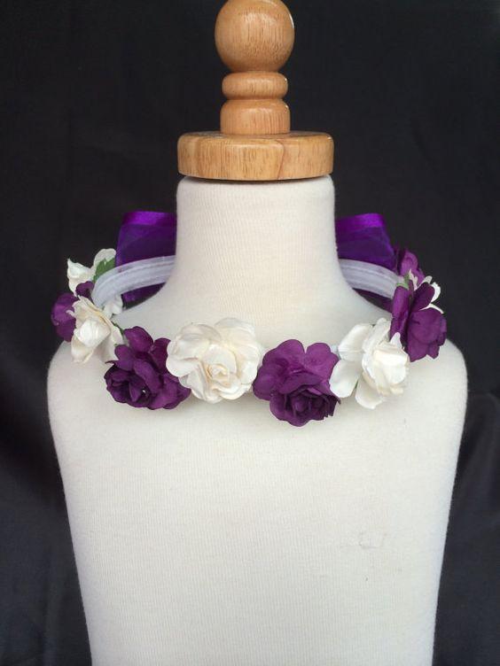 NEW Ivory Flower Girl Bridesmaids Flower Headband Headpiece Toddler Girl Easter Summer Wedding Hair Accessories