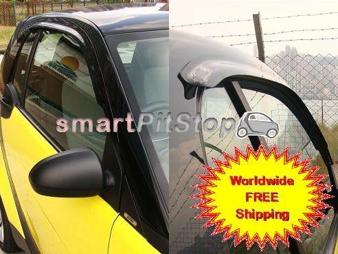 Smartpitstop Rain Visor For The Windows Smart Car Accessories