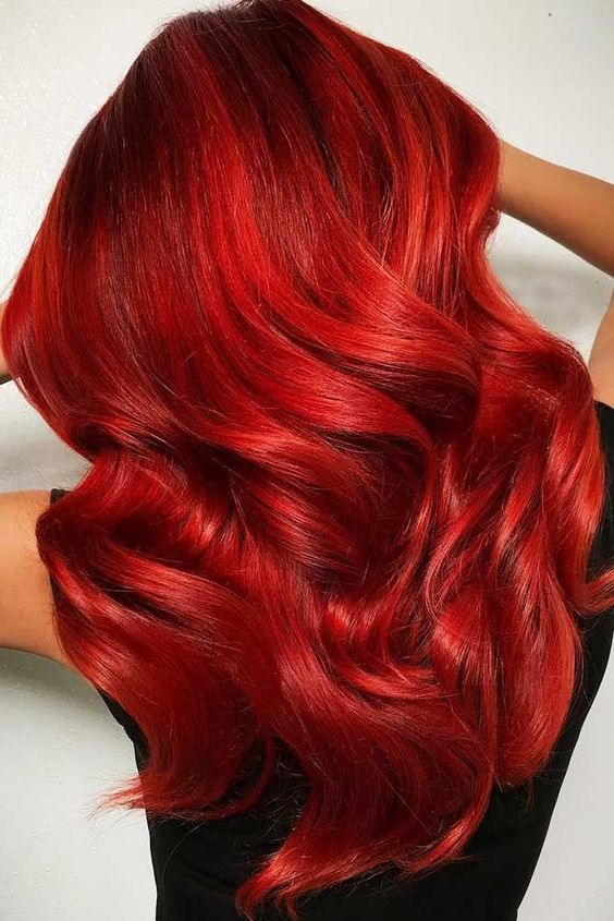 Ravishing Fire Red Balayage � If you have completely fallen in love with the concept of balayage hair color, but are unsure if you can pull off this trendy color technique with shorter hair, you dont have to wonder anymore!� Read on to find the hottest balayage ever! #haircolor #redhair #brighthair #balayage
