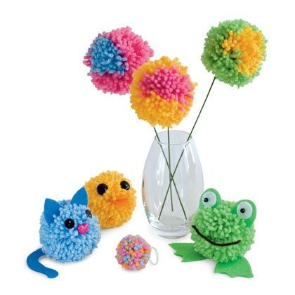 Pom pom kids crafts. #PocketYourDollars www.PocketYourDollars.com
