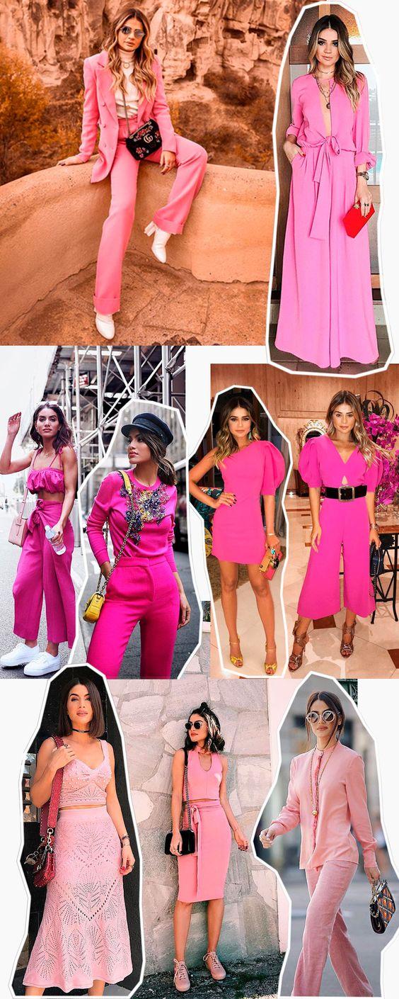 Camila Coelho e Thássia Naves estilo, looks todo rosa #moda #estilo #styling #aeroporto #aerolook #streetstyle #outfit #lookdodia #celebridades #dicasdeestilo #dicasdemoda #stylingtips #jeans #fashionstyle #styleinspiration #mystyle #needit #girls #allpink #pink #rosa #monocromatico #blazer