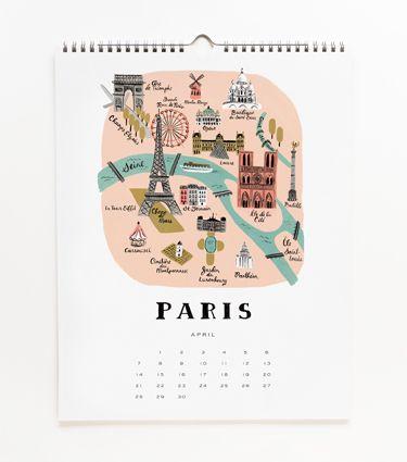 2013 Cities Calendar - Rifle Paper Co.