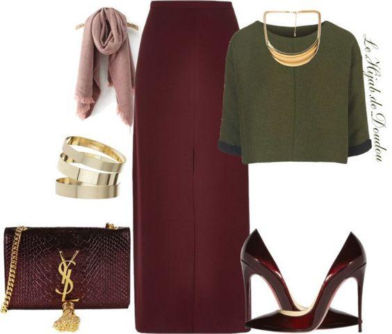 Hijab Outfit   Modest Wear   Combination Look   Link : http://lehijabdedoudou.wordpress.com/