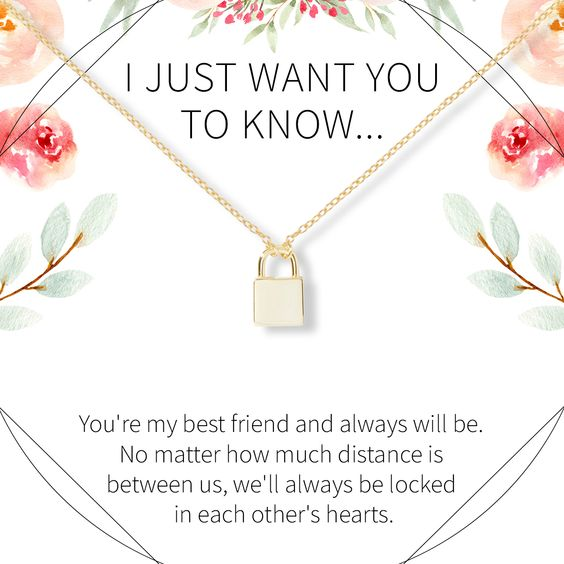 It can be hard to show your loved ones that they're still a priority, especially when your love has to span a great distance. Show them you'll always care with this beautiful, symbolic lock necklace.