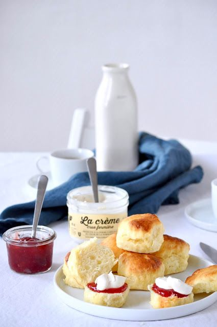 Elodie's Bakery: Classic scones with jam and cream | Scones, confit...