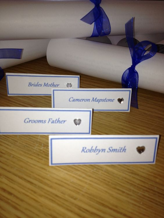 Placecards to match
