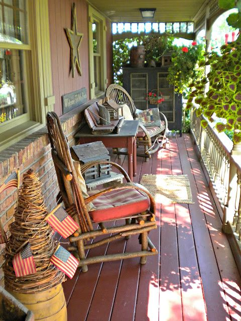 Porches american flag and the americans on pinterest for Country porch catalog