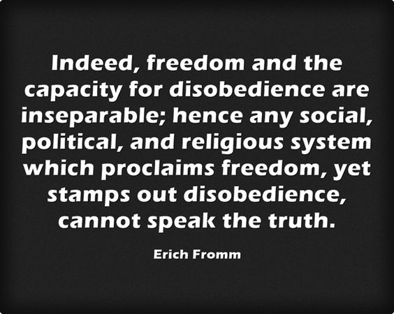 In erich fromm essay disobedience