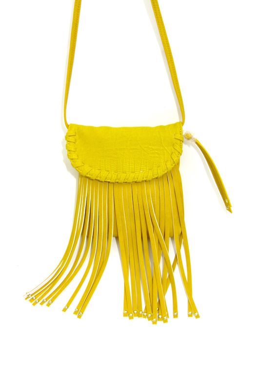 STEVE MADDEN Yellow PU Leather Fringe Crossbody Purse Bag Snake Print Woven 762670477369 | eBay
