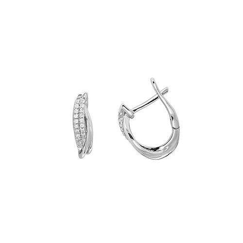 9ct White Gold Stardust Hoop Earrings 10mm 15mm 20mm 25mm 30mm 40mm 50mm