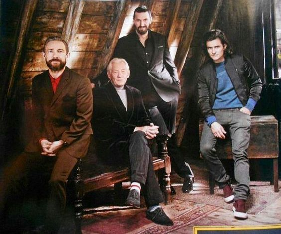 Martin, Sir Ian, Richard & Orlando