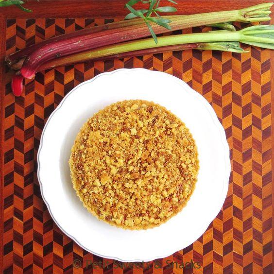 Crumble de Ruibarbo y Fresa. Strawberry Rhubarb Crumble Tart #crumble #pie #tarte