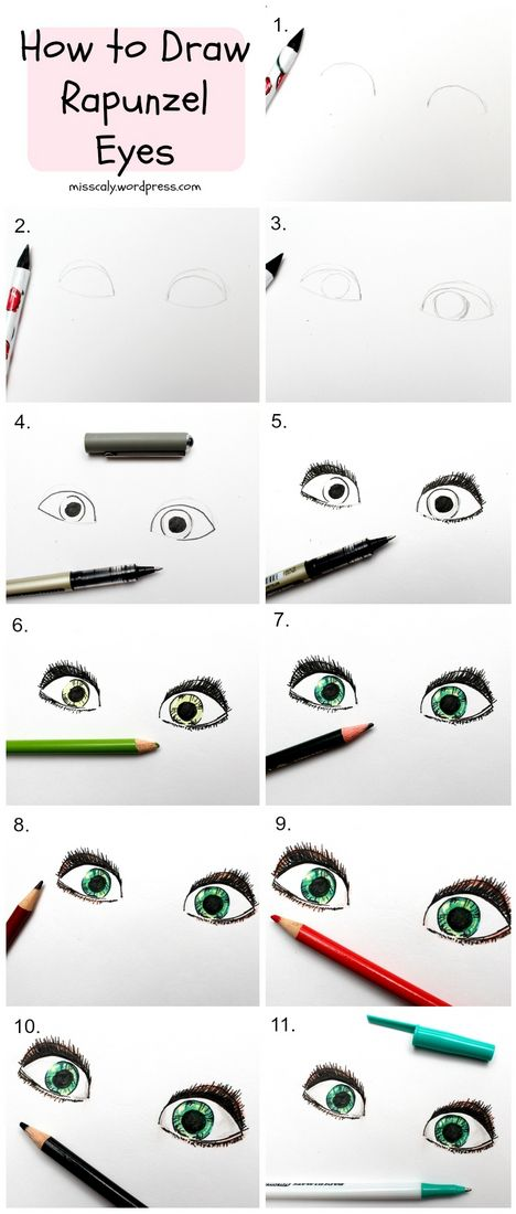 How to draw rapunzel's eyes