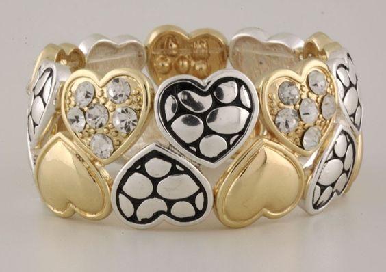 Here's My Heart Stretch Heart Bracelet   $21.99