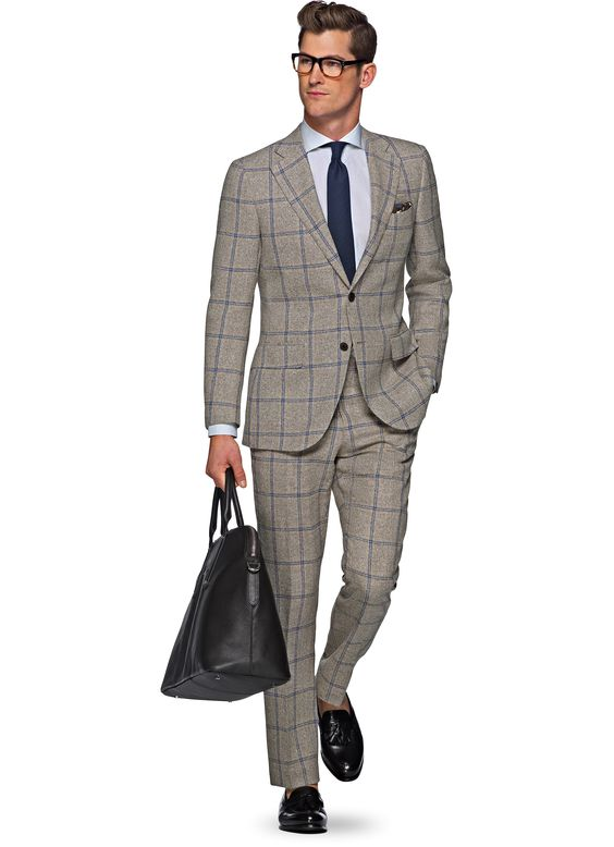 Suits, Brown and Linen suit on Pinterest