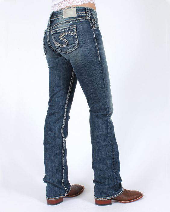Silver Jeans® Ladies' Suki Mid Rise Boot Cut Jeans :: Jeans ...