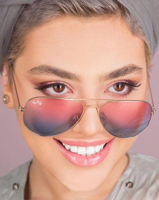 تیکه های خانم بازیگر مشهور به ریحانه پارسا اصلا استعداد نداره فیلم Mirrored Sunglasses Beautiful Girl Face Sunglasses