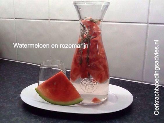 Watermeloen - Rozemarijn dorstlesser   Oerkracht - Paleo, Puur & meer