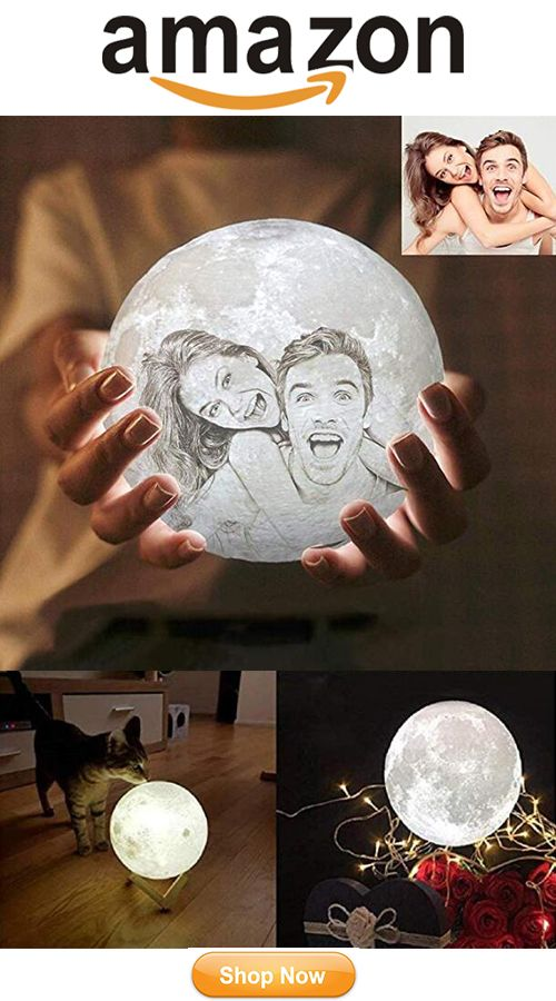 Personalized 3d Print Moon Lamp Funny Christmas Gifts Cool Things To Buy Cool Gifts