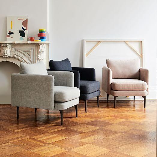 Auburn Chair Twill Black Indigo Dark Mineral Family Room In