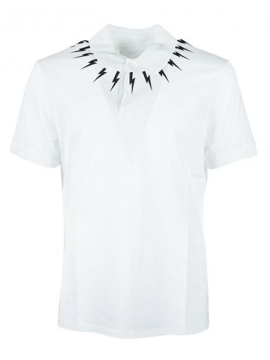 NEIL BARRETT Neil Barrett Printed Polo Shirt. #neilbarrett #cloth #https: