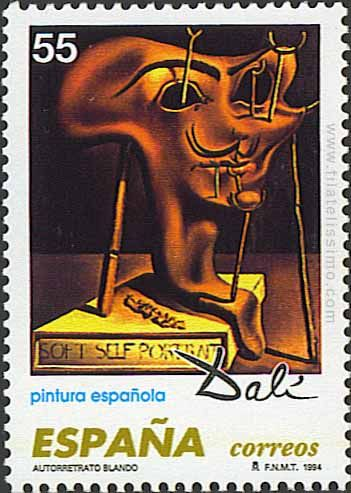 Dalí en estampillas