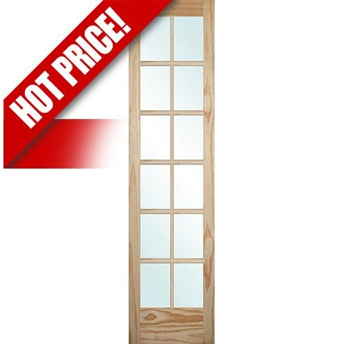 9301 8 0 Tall 12 Lite Pine Interior Wood Door Slab Wood Doors Wood Doors Interior Doors Interior