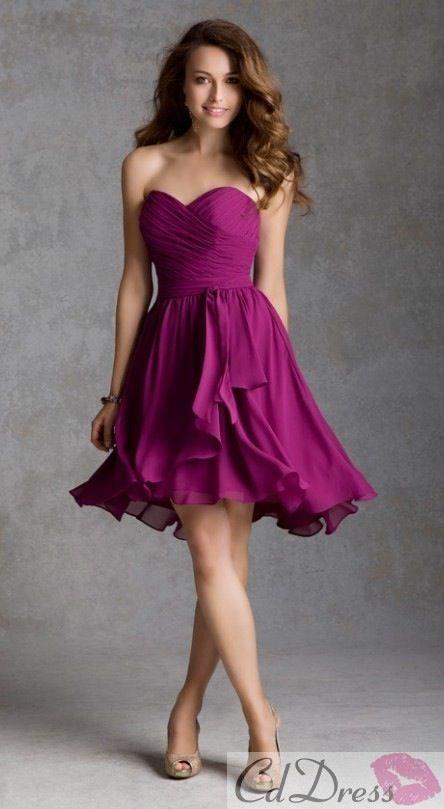Plum colored bridesmaid dress. - weddings- etc. - Pinterest ...