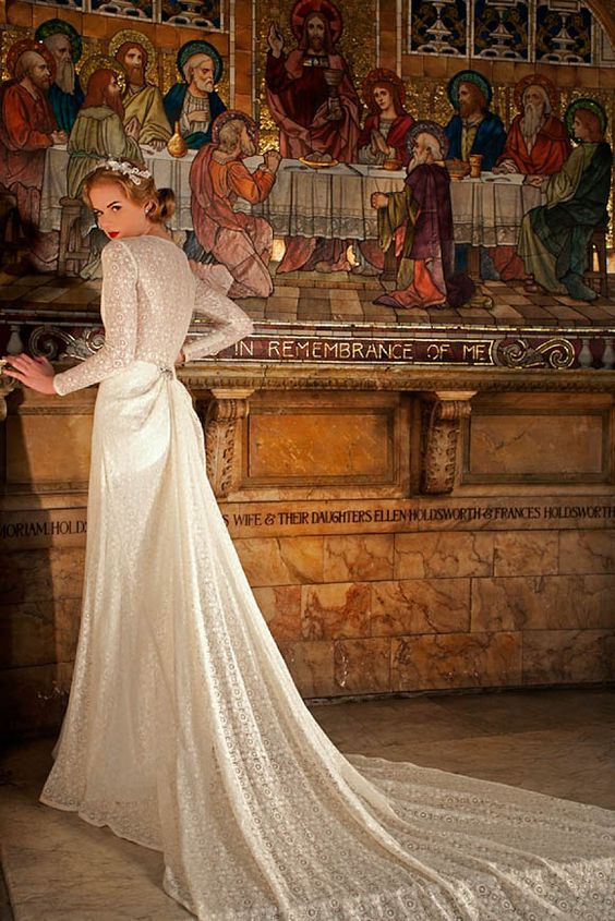 Vintage style wedding dresses by Sanyukta Shrestha of London http://www.sanyuktashrestha.com/