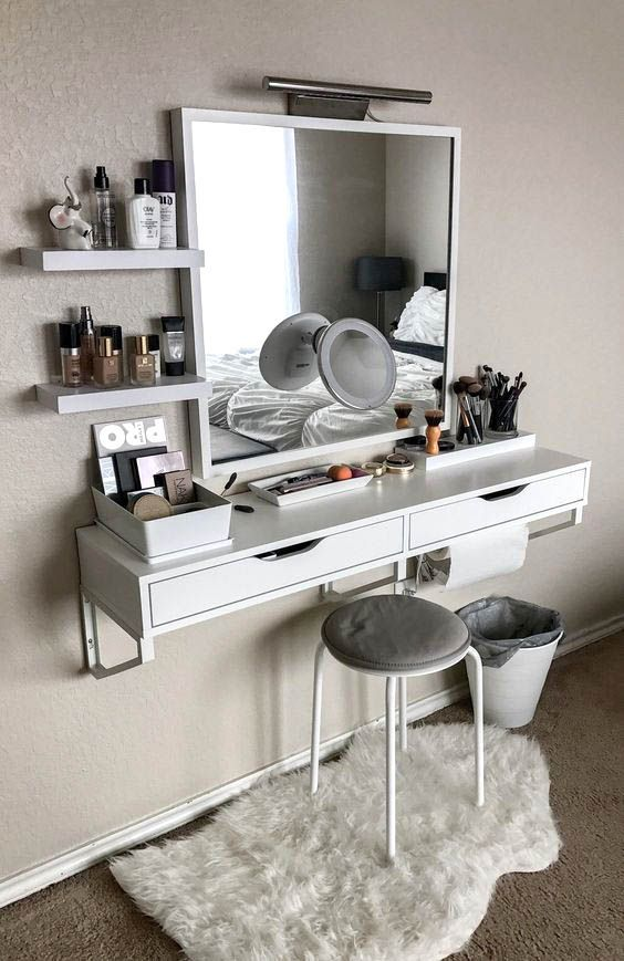 15 Super Cool Vanity Ideas For Small Bedrooms | Teenage ...