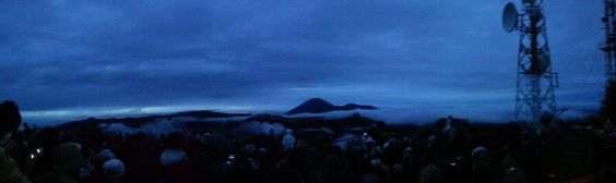 Cloudy sunrise at bromo