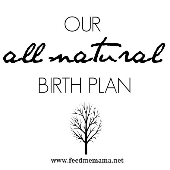 Our All-Natural Birth Plan (I love that they included rubbing in - birth plan sample