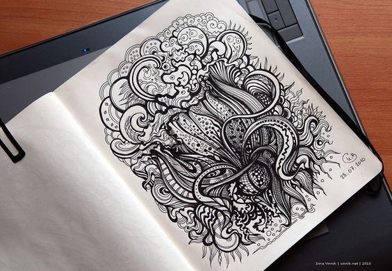 More Sketchbook Illustration Drawings from Irina Vinnik