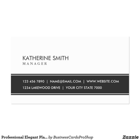 Professional Elegant Plain Simple Black And White Business Card #professional #elegant #plain #simple #black #and #white #business #card