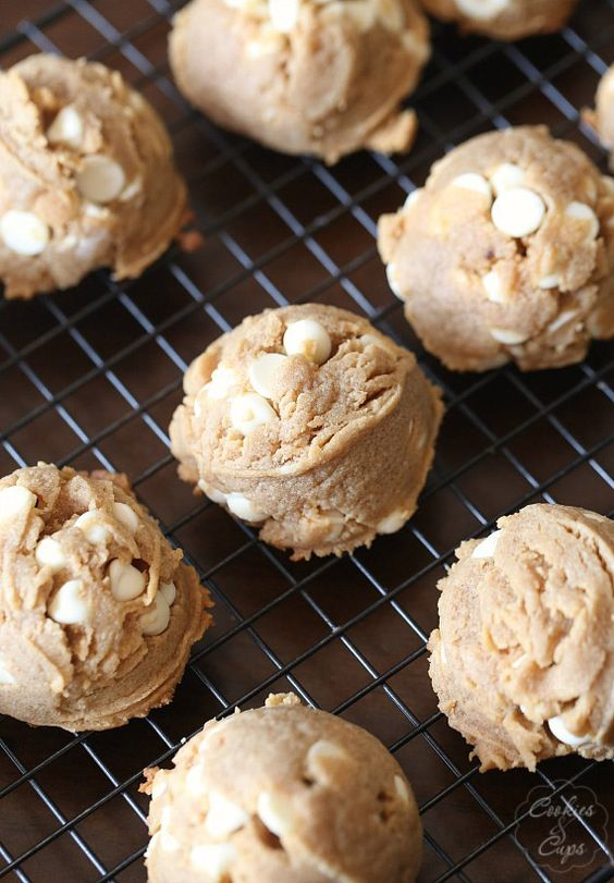 Soft Peanut Butter White Chocolate Chip Cookies