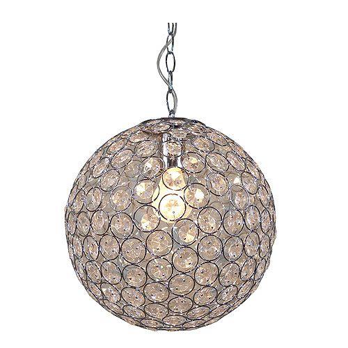 L mpara de colgar bola cristales ref 14945441 leroy - Lamparas de colgar ...